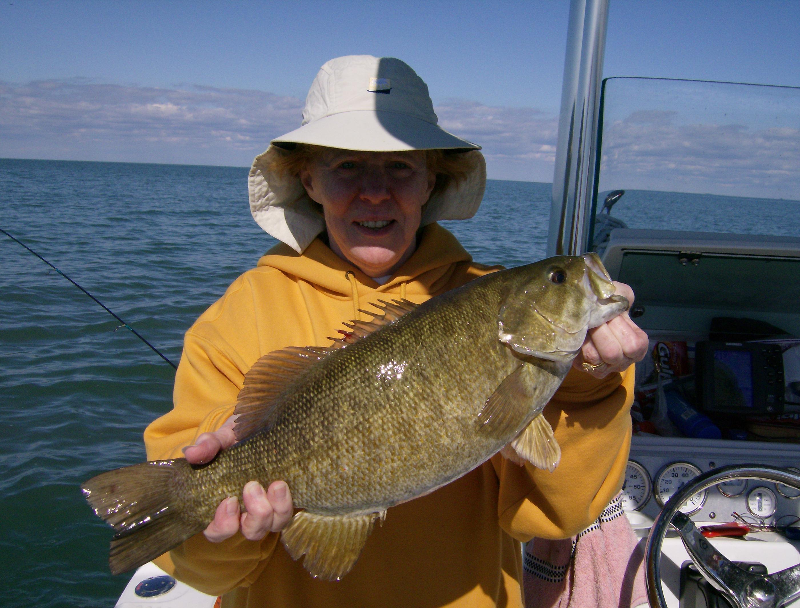 More girl power while fishing on lake erie near buffalo for Best bass fishing near me